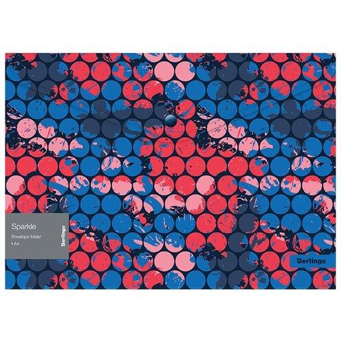 Купить Berlingo Папка-конверт на кнопке Sparkle А4, пластик, 12 шт. синий, Файлы и папки