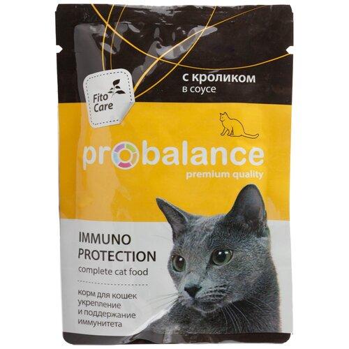 Консервированный корм Пробаланс для кошек Immuno с кроликом, защита иммунитета, 85 г х 25 шт.