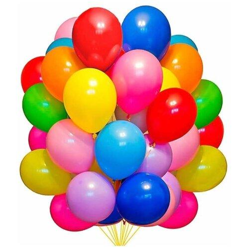 Шарики надувные 20 шт упаковка, воздушные шарики, детские воздушные шары, воздушные шары цветные