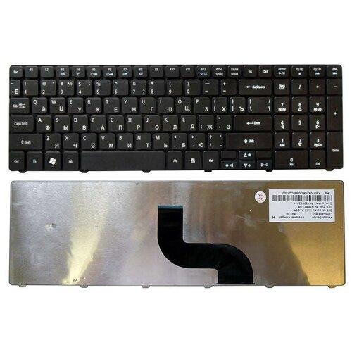 Клавиатура для ноутбука Acer eMachines E732G, Чёрная, Матовая