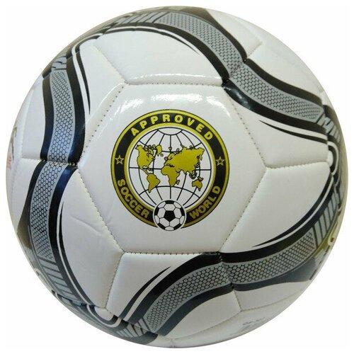 Мяч футбольный (белый) 3-слоя PVC 2.3, 340 гр, машинная сшивка