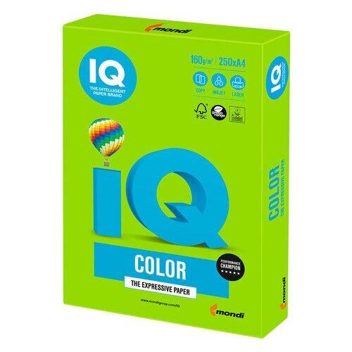 Фото - Бумага цветная IQ color, А4, 160 г/м2, 250 л., интенсив зеленая, MA42 бумага цветная iq color а4 160 г м2 100 л 5 цветов x 20 листов микс интенсив rb02