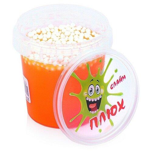Лизун оранжевый, контейнер с шариками, 140 гр.