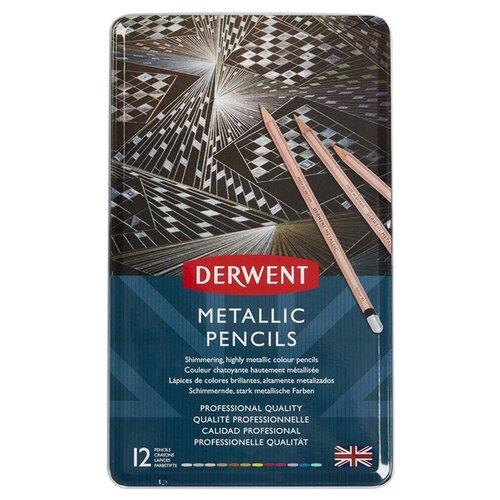 Купить Derwent Набор цветных карандашей Metallic 12 цв12 шт2305599 1 шт., Цветные карандаши