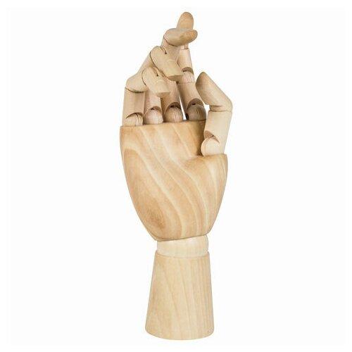 Манекен художественный BRAUBERG ART CLASSIC рука, высота 25 см., женская правая, дерево, 191299 манекен художественный невская