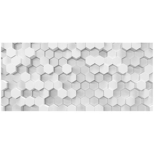 Фотообои 3D абстракция в виде сот/ Красивые уютные обои на стену в интерьер комнаты/ 3Д расширяющие пространство над кроватью или над столом/ На кухню в спальню детскую зал гостиную прихожую/ размер 600х270см/ Флизелиновые