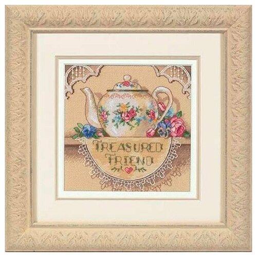 Набор для вышивания DIMENSIONS 06904 Кружевной чайничек15 х 15 см dimensions набор для вышивания мать 15 х 15 см 06709