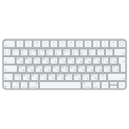 Клавиатура Apple Magic Keyboard с Touch ID серебристый/белый