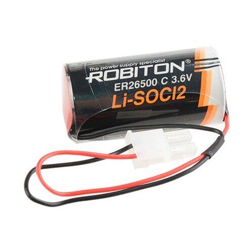 Фото - Батарейка ER26500 - Robiton ER26500-55572P (1 штука) 17435 батарейка robiton er26500 dp с коннектором ph1 1 шт