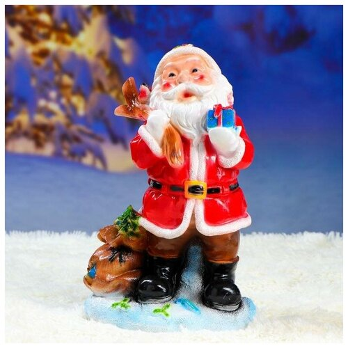 Фото - Фигурка Дед мороз малый красный 21х34см фигурка дед мороз m97 дед мороз пластик текстиль красный