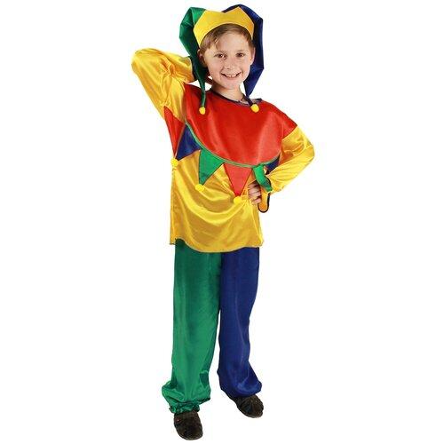 Купить Костюм Вестифика Скоморох (101 034), разноцветный, размер 116-122, Карнавальные костюмы