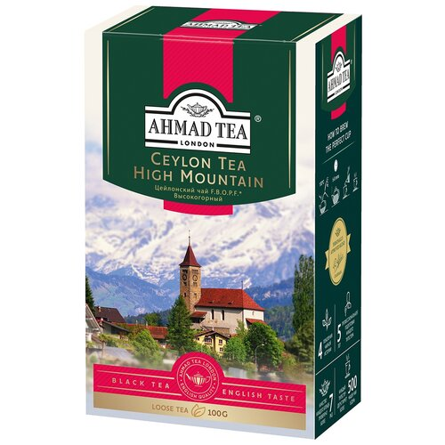 Чай черный Ahmad tea Ceylon tea F.B.O.P.F. high mountain, 100 г чай ahmad tea ceylon tea op черный 100 г