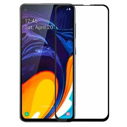 Полноэкранное защитное стекло для Samsung Galaxy A60, Galaxy M40 Full Glue Full Screen / Защитное стекло для Самсунг Галакси A60, Галакси M40 / 3D Полная проклейка экрана (Черный)