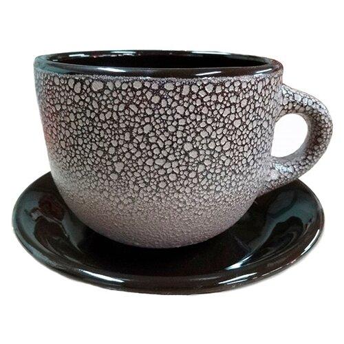 Фото - Чайная пара Борисовская керамика Мрамор, 500 мл, 2 предм., черный/серебристый чайная пара mercury 150 мл керамика