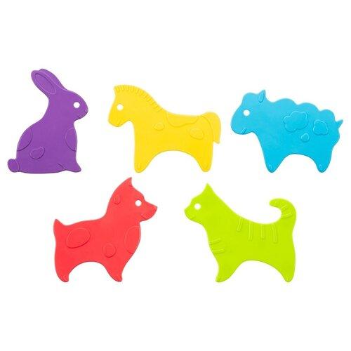 коврики для купания roxy kids мини коврики для ванны 12 шт Антискользящие мини-коврики для ванны Roxy-Kids Animals 5шт