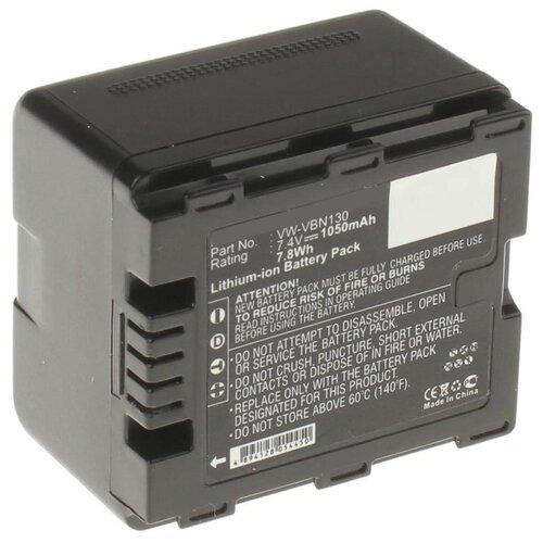 Аккумулятор iBatt iB-B1-F228 1050mAh для Panasonic VW-VBN130, VW-VBN260, VW-VBN390, VW-VBN130-K,
