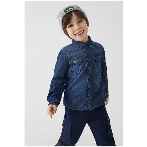 Джинсовая рубашка для мальчиков размер 116, темно-синий, ТМ Acoola, арт. 20120230001
