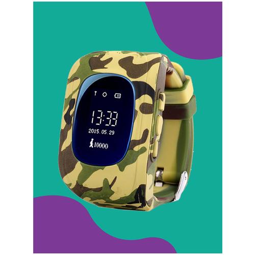 Детские смарт часы-телефон с gps Wokka Lokka WL Q50 зелено-коричневый