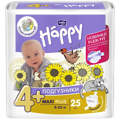 Bella Baby happy подгузники maxi plus 4+ (9-20 кг), 25 шт.