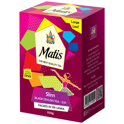 Чай чёрный Matis Slim О.Р., 100 г
