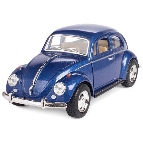 Купить Легковой автомобиль Serinity Toys Volkswagen Beetle Classical (5057DKT) 1:32, 12.5 см, синий, Машинки и техника