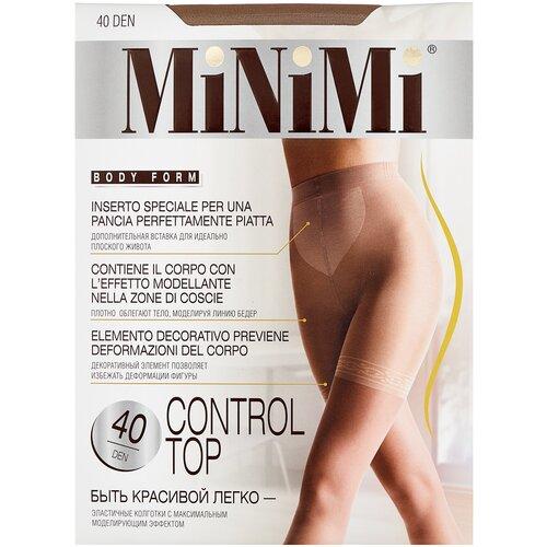 Фото - Колготки MiNiMi Control Top, 40 den, размер 4-L, daino (бежевый) колготки minimi slim control 40 den размер 4 l daino бежевый