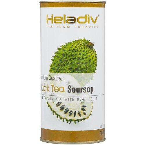 чай зеленый heladiv pekoe green tea soursop 250 г 1 уп Чай черный Heladiv Premium Quality Black Tea Soursop, 100 г, 1 уп.