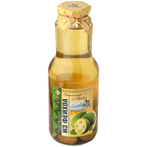 Компот Ecofood Armenia из фейхоа, стеклянная бутылка, 1 л