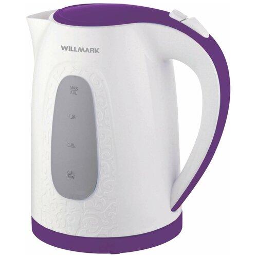 Чайник Willmark WEK-2009P, белый/фиолетовый чайник willmark wek 2009p белый фиолетовый