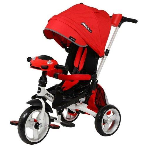 Трехколесный велосипед Moby Kids New Leader 360° 12x10 Eva Car, красный