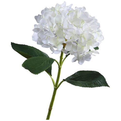 Искусственный цветок Гортензия белая крупнолистная 70 см pablo de gerard darel белая блузка с рельефной отделкой