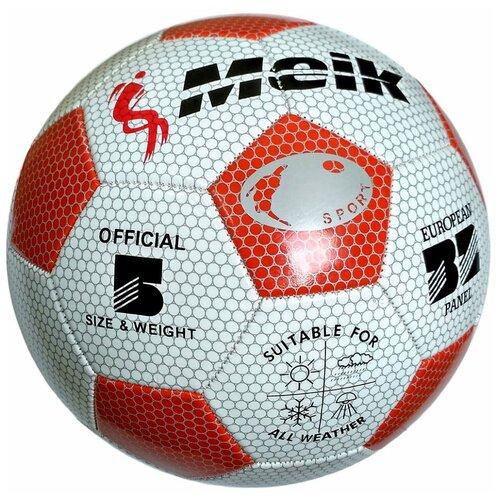 R18024 Мяч футбольный Meik-3009 3-слоя PVC 1.6, 300 гр, машинная сшивка