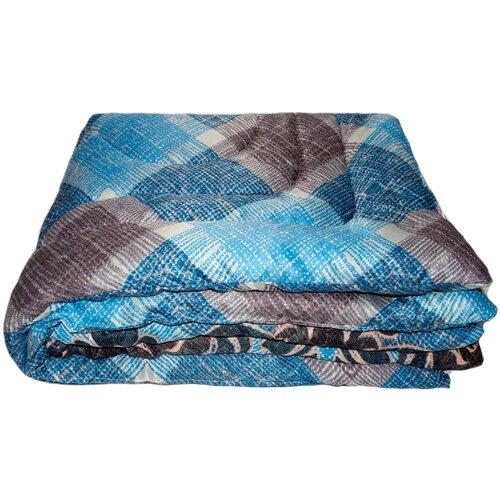 Фото - Одеяло Соната Синтепоновое, легкое, 172 х 205 см (голубой/синий/коричневый) одеяло альвитек соната легкое 172 х 205 см бежевый