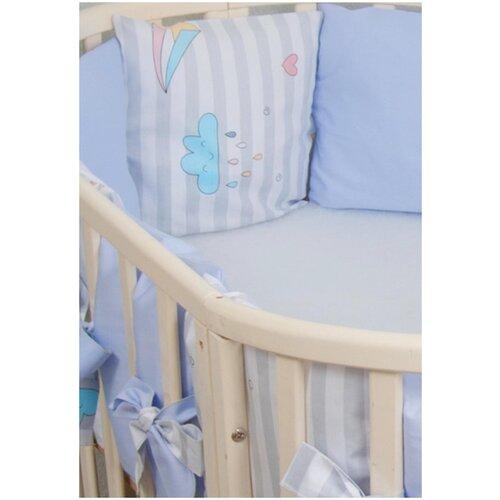 Фото - Бортики-подушки в кроватку для новорожденных Серебряная нить, цвет: нежно-розовый, 12 штук бортики в кроватку сонный гномик серебряная нить