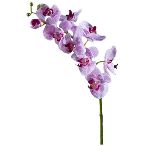 Искусственный цветок Орхидея Фаленопсис Мидл белая с сиреневыми крапинами 1 ветка 76 см pablo de gerard darel белая блузка с рельефной отделкой