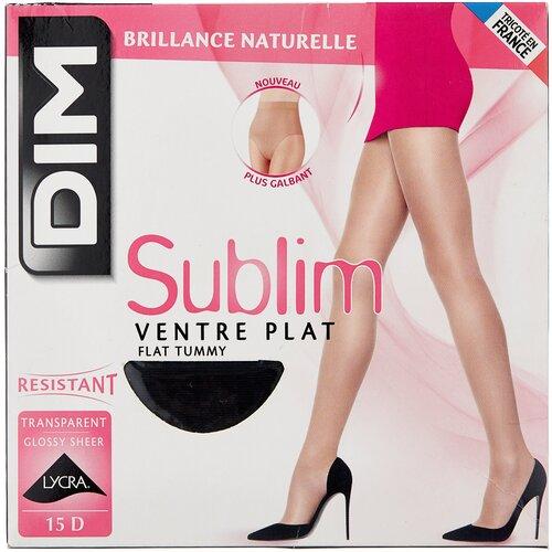 Колготки DIM Sublim Ventre Plat, 15 den, размер 1, noir (черный) чулки dim dim up nude sensation