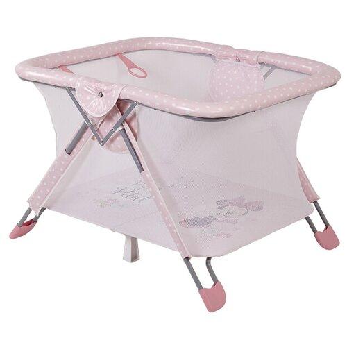Манеж Polini Disney baby Comfort розовый/минни маус фея