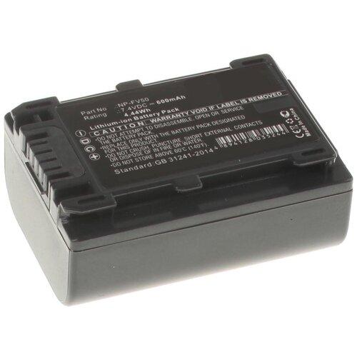 Аккумулятор iBatt iB-U1-F298 600mAh для Sony PXW-X70, HDR-CX250E, HDR-CX110E, HDR-CX360E, HDR-CX550E, HDR-CX130E, DCR-SX44E, HDR-CX200E, HDR-XR550E, HDR-CX190E, DCR-SX44, HDR-CX580E, HDR-CX280E, HDR-CX400E,