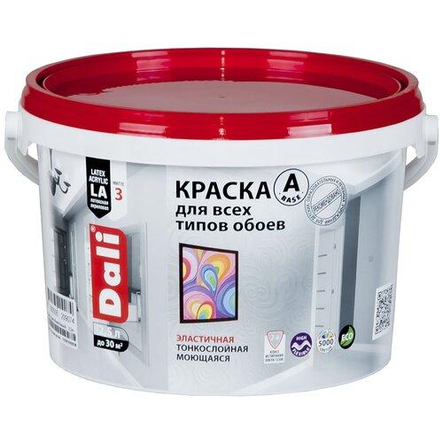 Фото - Краска акриловая DALI Для обоев влагостойкая моющаяся матовая 2.5 л краска акриловая dali для кухни и ванной влагостойкая моющаяся матовая белый 5 л