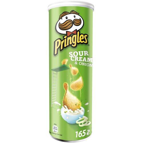 Чипсы Pringles картофельные Sour Cream & Onion, 165 г чипсы pringles картофельные spring onion 165 г