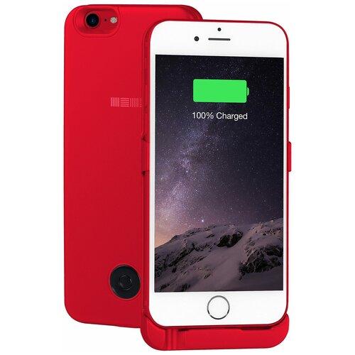 Чехол-аккумулятор INTERSTEP Metal battery case для iPhone 6/7 red