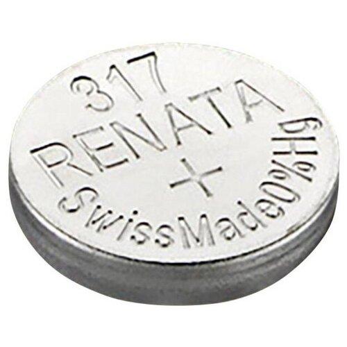 Фото - Батарейка Renata 317, 1 шт. батарейка renata r 317 sr516sw 1 шт