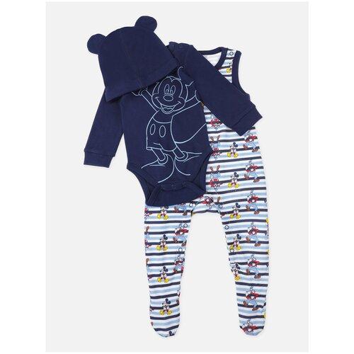 Фото - Комплект одежды playToday размер 62, синий/голубой/белый песочник playtoday размер 74 белый голубой синий