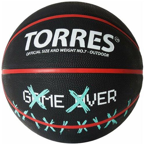 Баскетбольный мяч TORRES Game Over, р. 7 черный