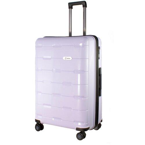 Фото - Чемодан PROFFI Tour Fashion L 98 л, фиолетовый чемодан proffi travel tour fashion 24 pp пластиковый средний 64 5х47х27 желтый