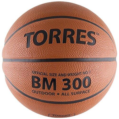Баскетбольный мяч TORRES B00016, р. 6 коричневый/черный