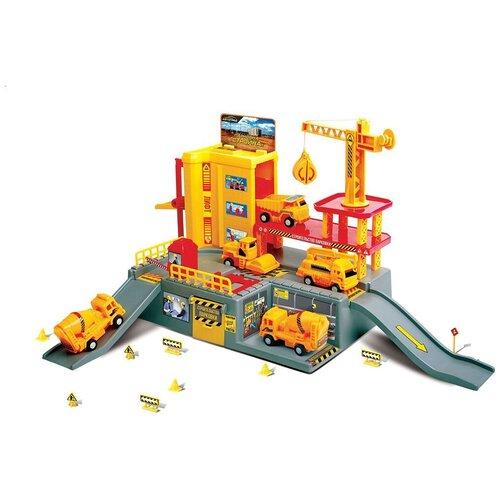 Купить Автоград Стройка 1342807, желтый/красный/серый, Детские парковки и гаражи