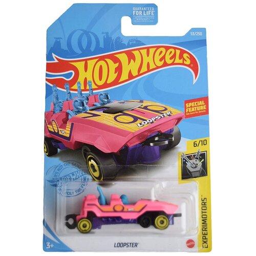 Hot Wheels Базовая машинка Loopster, розовая mattel базовая машинка hot wheels tesla model 3