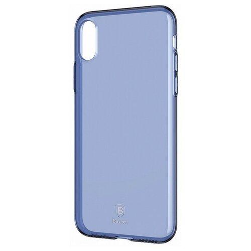 Фото - Чехол-накладка Baseus Simple Series Case для Apple iPhone X transparent blue чехол накладка baseus thin case для apple iphone x black