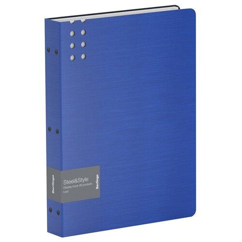 Фото - Berlingo Папка с 80 вкладышами Steel&Style A4, пластик синий berlingo папка со 100 вкладышами standard a4 пластик синий